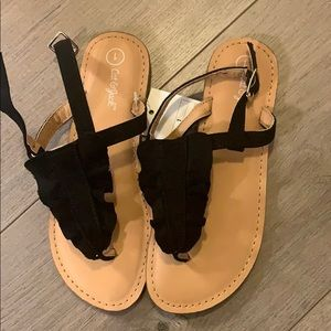 NWT girls Cat and Jack sandals size 1